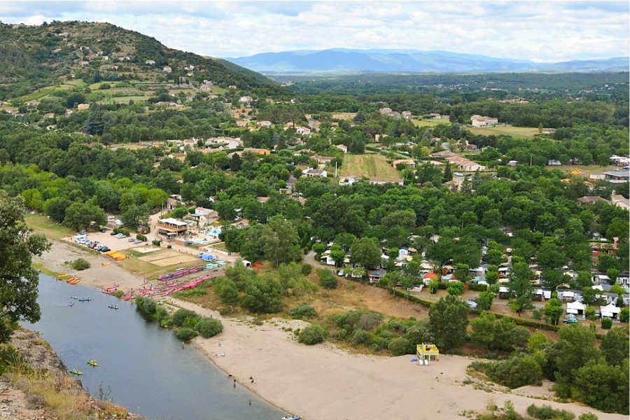 Camping, Mobilhomes, Bungalows toilés Sampzon